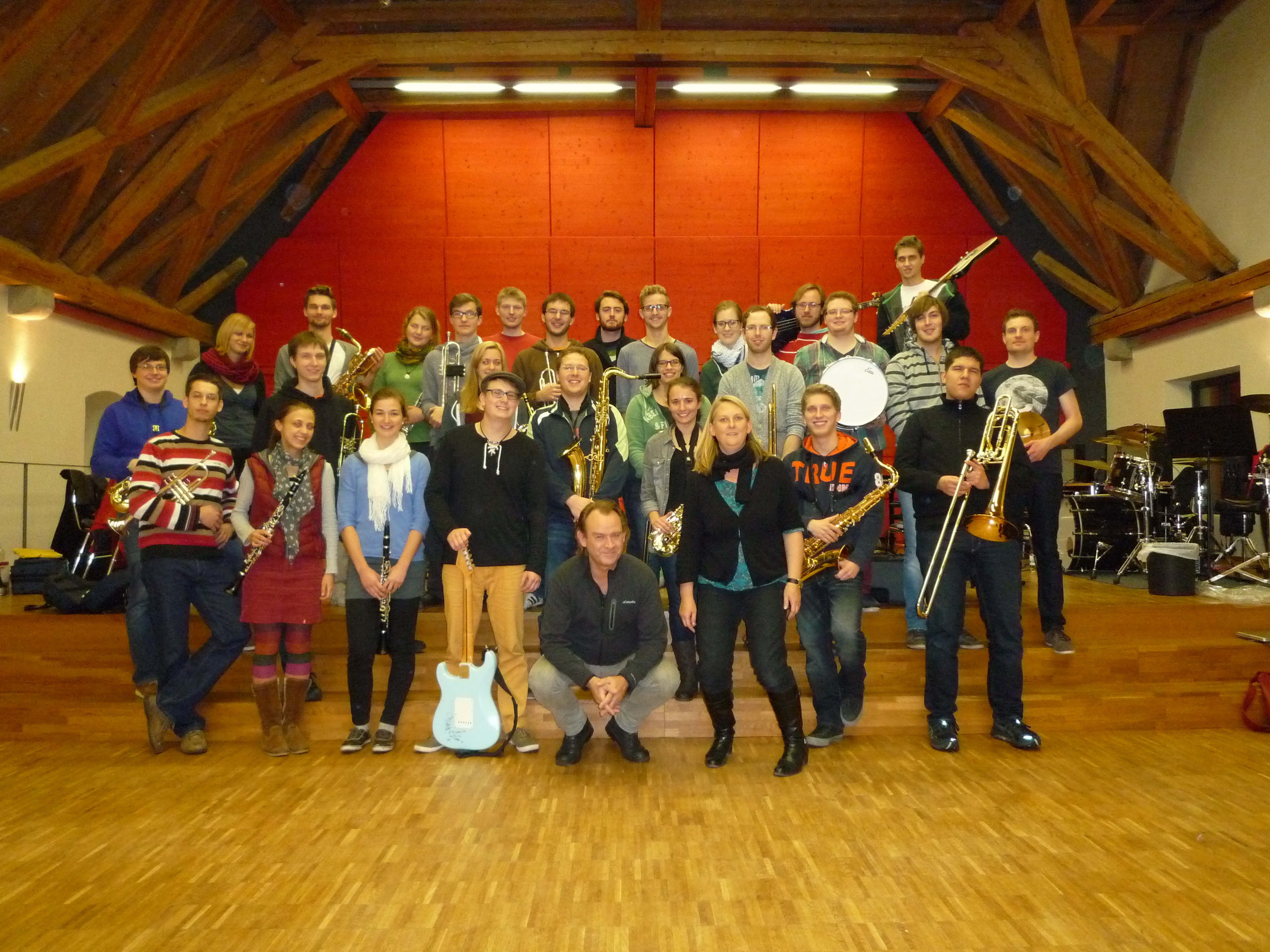 Gruppenbild der Uni Big Band