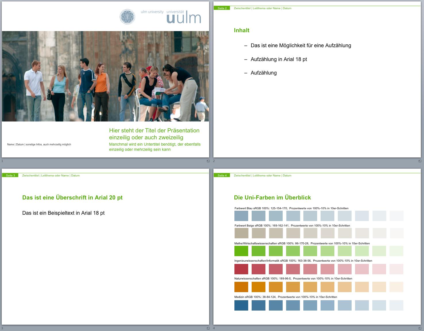 Corporate Design-Entwurf - Universität Ulm