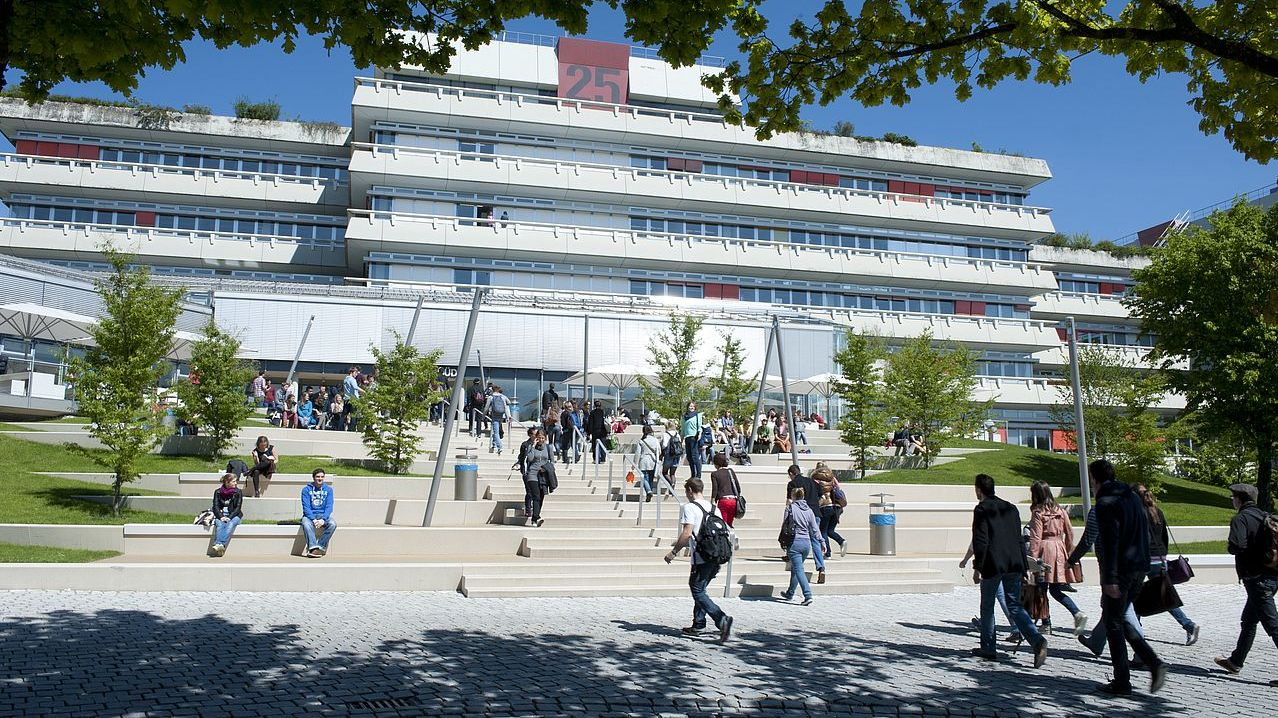 The south entry of the Ulm University