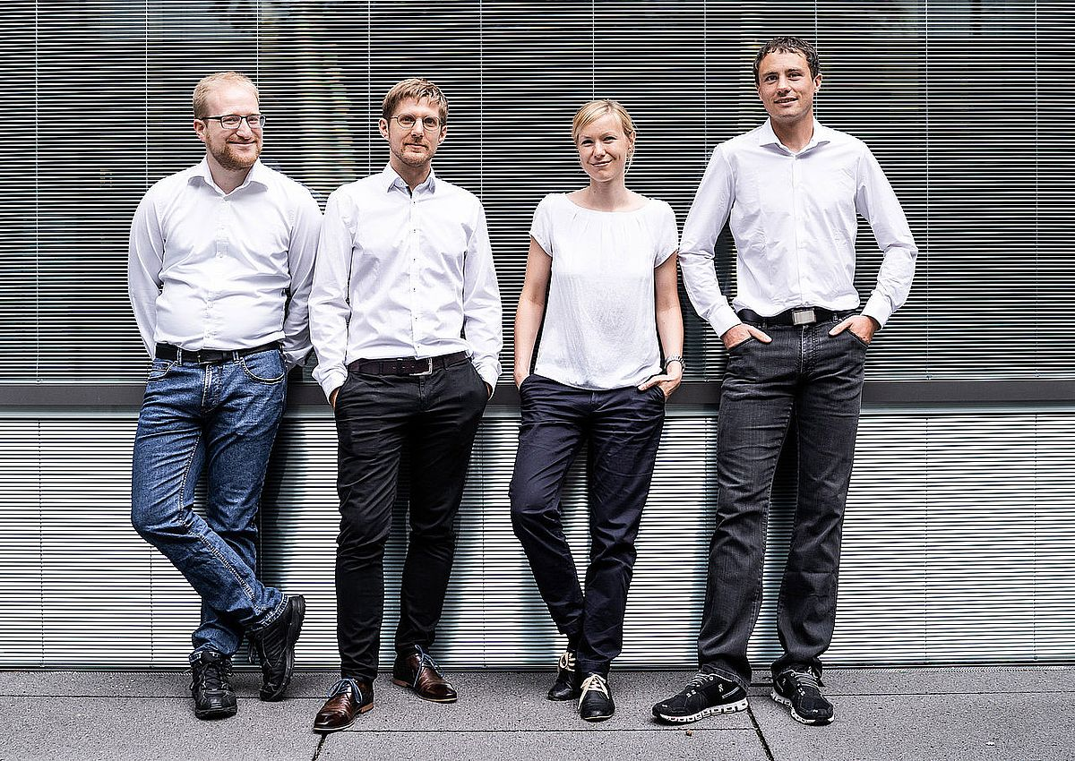 The founding team of CellMOUSE