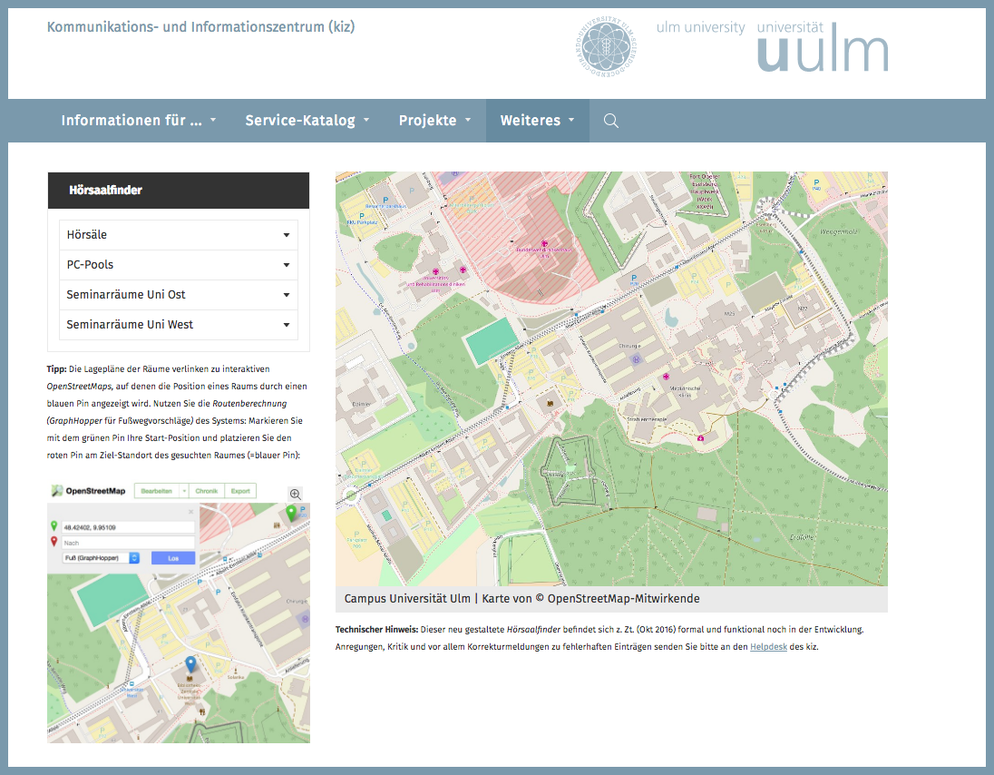 Iuk Campus Map.Campus Navigation Ulm University