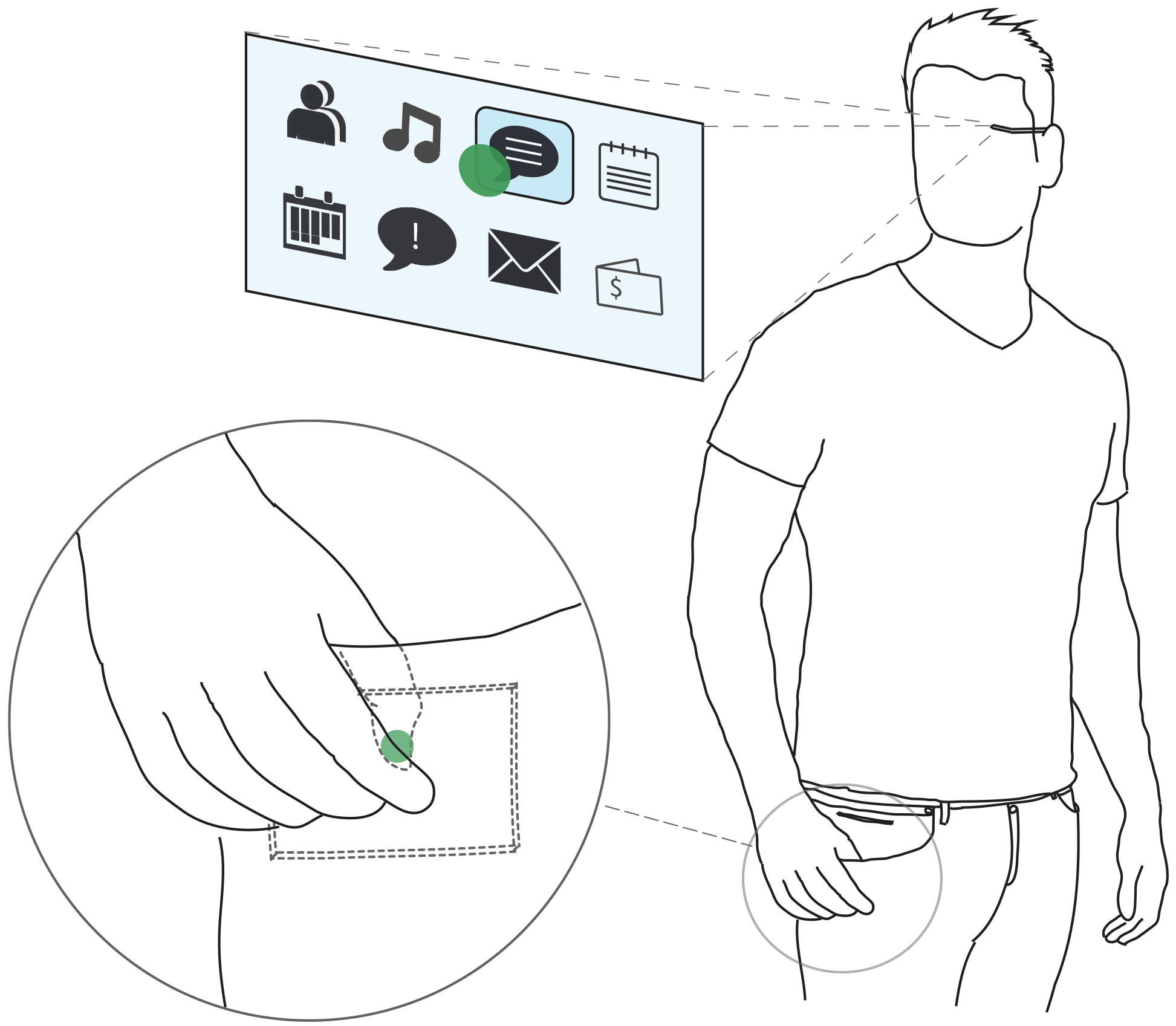 PocketThumb: a Wearable Dual-Sided Touch Interface
