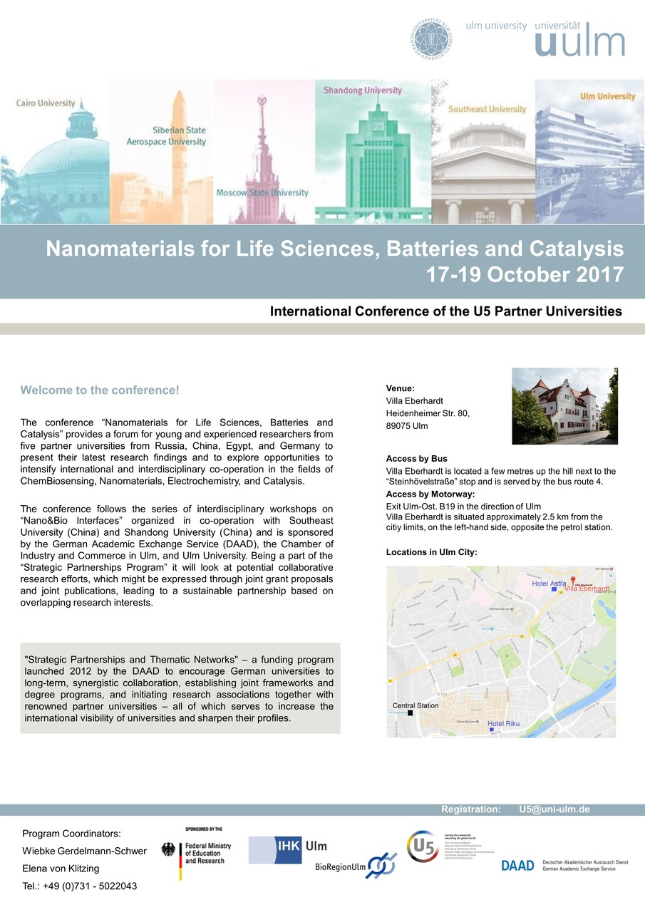 Nanomaterials for Life Sciences, Batteries and Catalysis