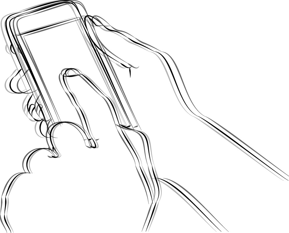 Illustration zum Projekt: Improving Input Accuracy on Smartphones