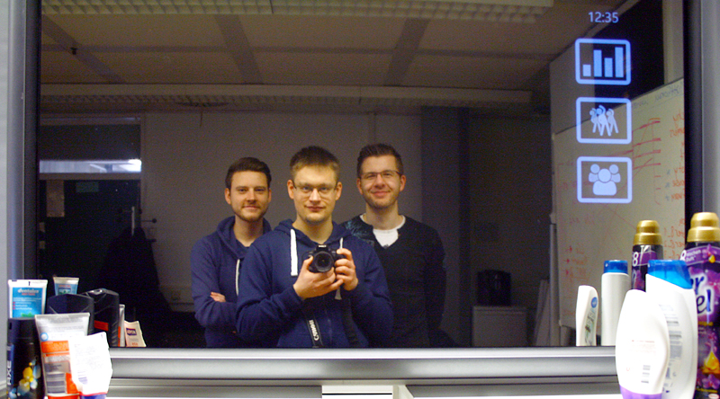 Photography of the project team 'interactive mirror'