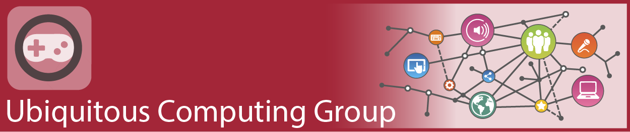 Logo of research group ubiquitous computing.