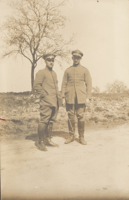 Mohr (on the right) with another military doctor