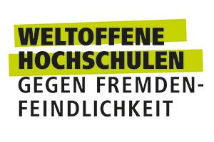 Logo: Weltoffene Hochschulen – Gegen Fremdenfeindlichkeit